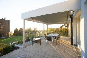Die Terrasse als Teil des Gartens